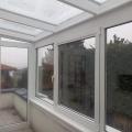 Alumínium télikert üveg tetővel