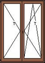 Középen felnyíló-bukónyíló erkélyajtó