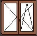 Középen felnyíló-bukónyíló ablak