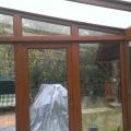 Télikert polikarbonát tetővel