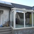 Télikert üveg tetővel