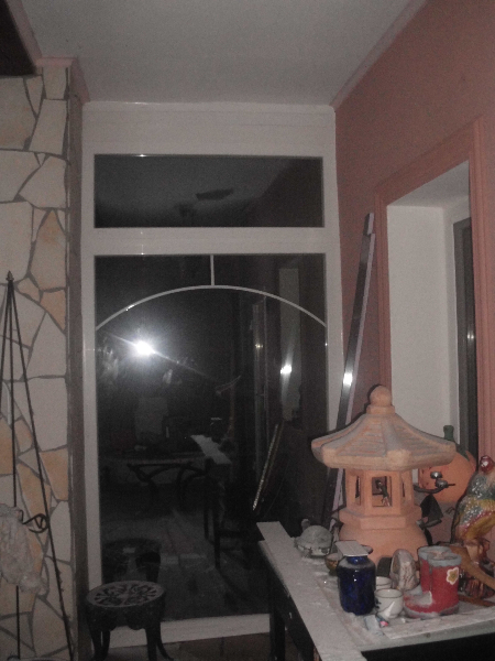 Télikert fix üvegfal