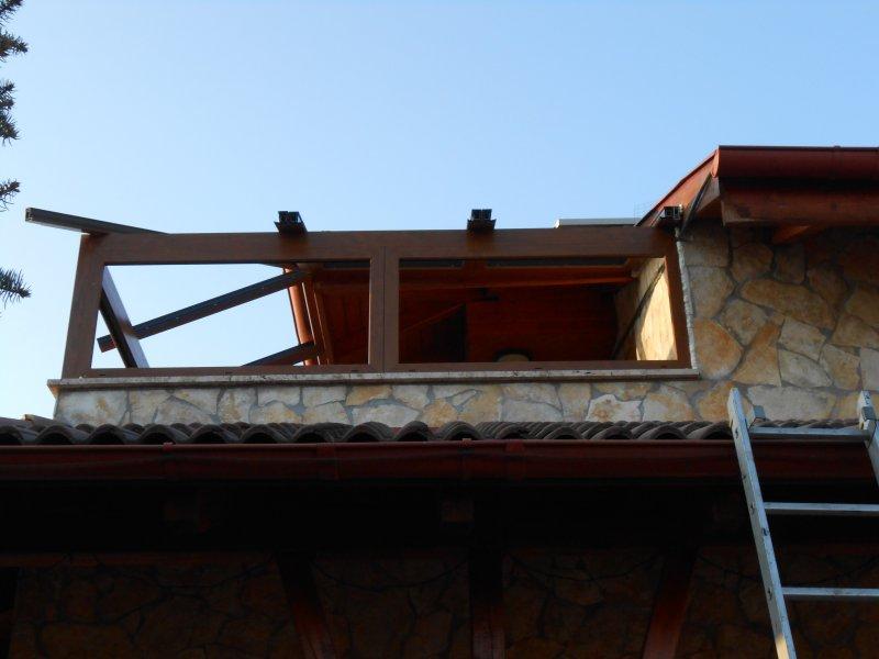 Terasz beépítés emeleti teraszon
