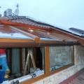 Terasz beépítés toló-bukó ablakkal