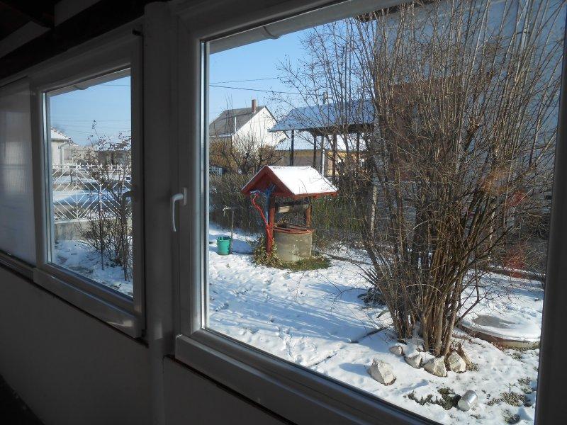 Terasz beépítés télen